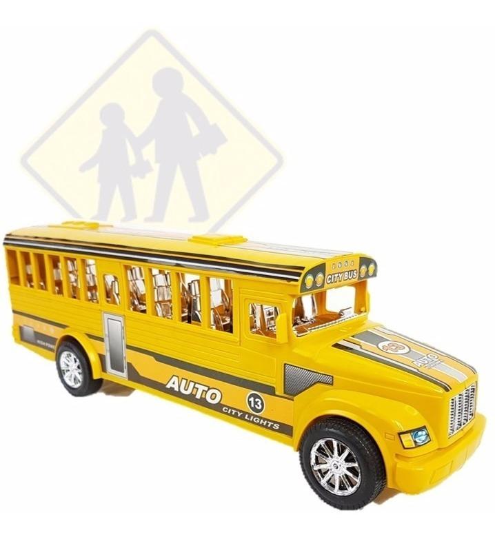 Autobus Grande Escolar Juguete Friccion Amarillo doxCeB