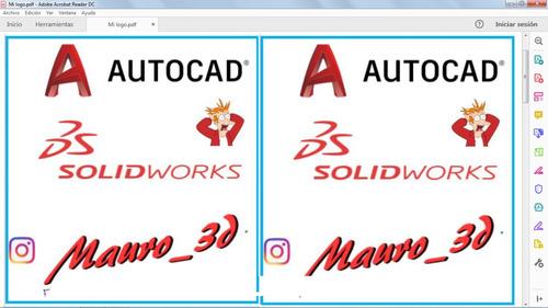autocad + solidworks + trabajos + diseño + economico + plano