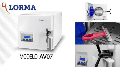 autoclave electronico digital av07- lorma 2 años de garantia