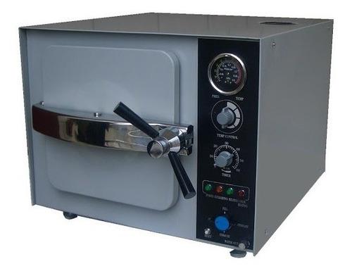 autoclave horizontal eléctrica de mesa acero inox. 20 litros