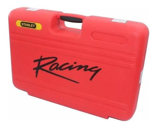 autocle 150 pz 1/2-3/8-1/4 racing rojo y amarillo stanley