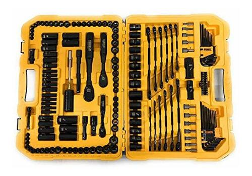 autocle 181 pzas dewalt set de herramientas cromo negro