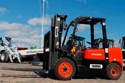 autoelevador 0km diesel 2500kg triple desp (30% + 8 pagos)