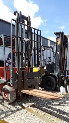 autoelevador 2tn diesel linde t/ toyota ,funciona vea video
