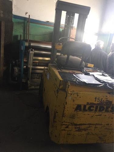 autoelevador alcides toyota 2000kg c/bateria remate 20/2