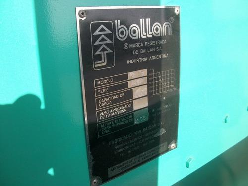 autoelevador ballan md 2ts d/torre 4.00m excelente estado.