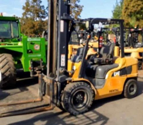 autoelevador cat 3tn 2012 torre triple c/desplazador envios