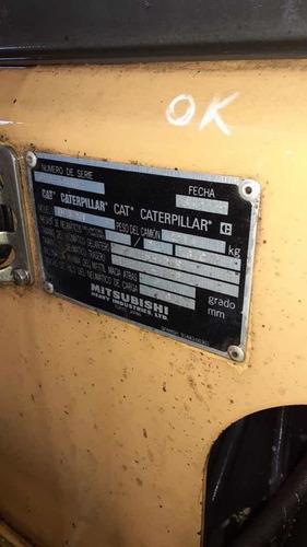 autoelevador cat 3tn diesel 2008 torre triple c/desplazador