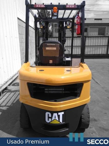 autoelevador cat usado diesel 3.5 tn, premium