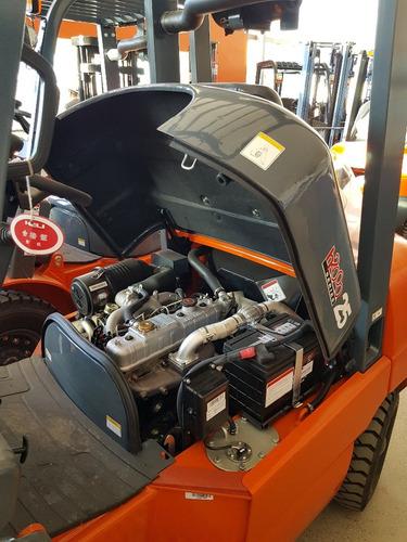 autoelevador chl 2,5 tn dual (heli) isuzu triple