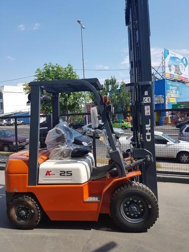 autoelevador chl / heli 2500 kg a498 euro3 triple 4.5 m