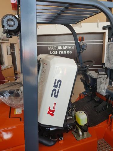 autoelevador chl/heli 2500kg mitsubishi s4s japon triple4.5m