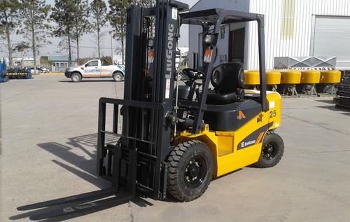 autoelevador diesel liugong cpcd 25 tipo clark / heli / cat