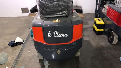 autoelevador electrico e-clema 1t elevacion 3m, cargador !