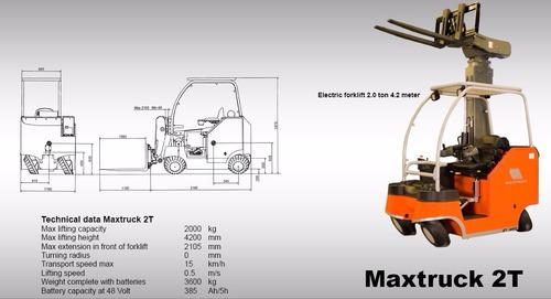 autoelevador eléctrico maxtruck ominidireccional