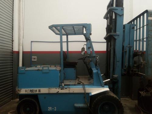 autoelevador eléctrico shinko 5 ton. con batería y cargador
