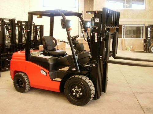 autoelevador everlift mitsubishi s4s diesel 3.5 tonelad