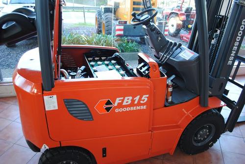 autoelevador goodsense fb15 eléctrico valor por anticipo!!!
