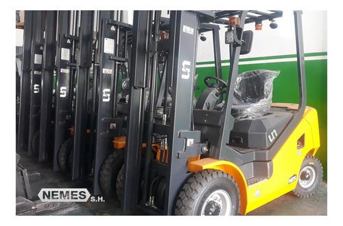autoelevador (hecha) - (un) motor isuzu 0km, 2500 kg