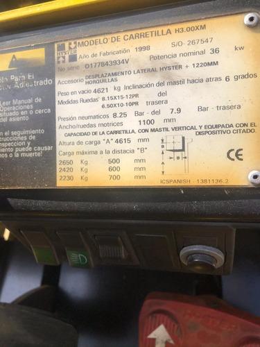 autoelevador hyster para 3 toneladas