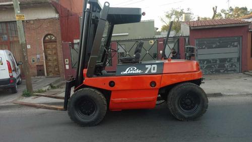 autoelevador linde 7 tn diesel