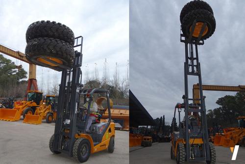 autoelevador lonking lg25dt triple torre 4,5m levante 2.5tn