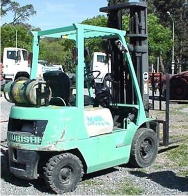 autoelevador mitsubishi 2.0ton a gas