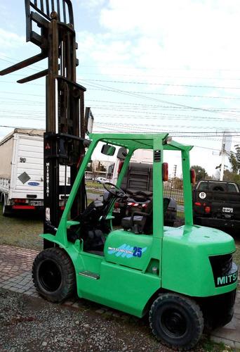 autoelevador mitsubishi 2.5ton diesel