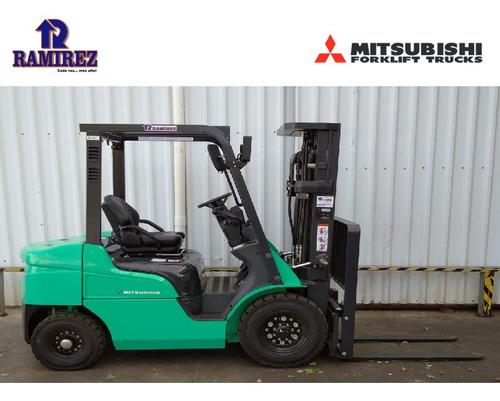 autoelevador, montacarga nuevo mitsubishi 2500 kg diesel