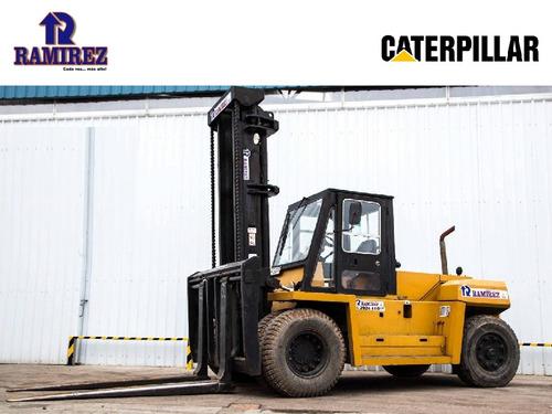 autoelevador montacarga usado marca caterpillar 15.000 kg