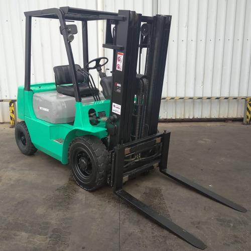 autoelevador montacarga usado marca mitsubishi 2500kg diesel
