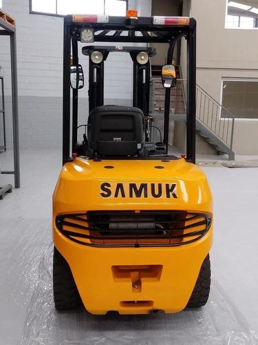 autoelevador samuk mitsubishi 3.5 toneladas y 52 hp 0km.