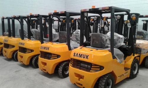 autoelevador samuk-mitsubishi diesel  52 hp 2.5 toneladas