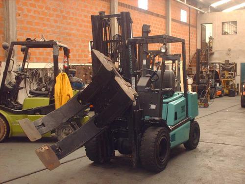 autoelevador sumitomo 3000 kg / elevación 3 mts con clamp