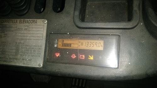 autoelevador toyota 2,5 tn torre triple diesel con garantia