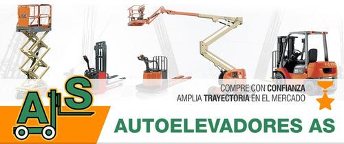 autoelevador toyota 2500 kg / elevación 4,7 mts desplazador