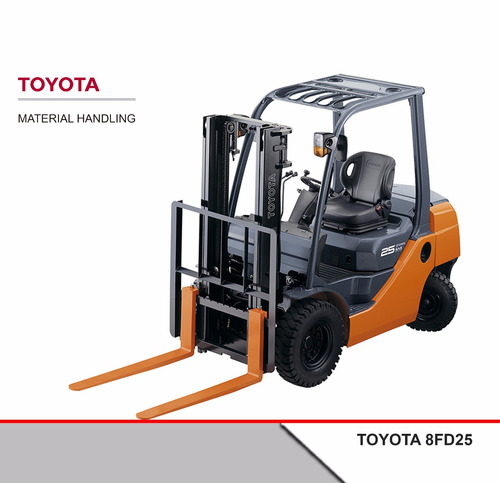 autoelevador toyota diesel 8fd25 2,5 tn 0 hs
