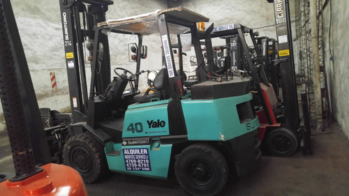 autoelevador yale 3.5 toneladas nafta/gas