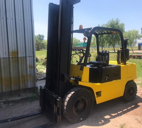 autoelevador yale diesel 4 ton 4,8 mts. desplaz (cheques)
