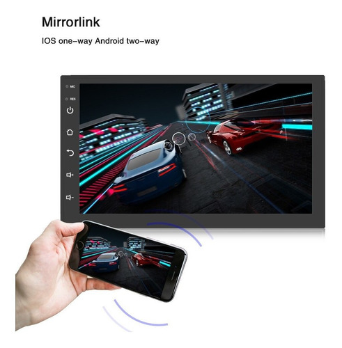 autoestéreo android mirrorlink bt wifi gps 7 inch touch 8803