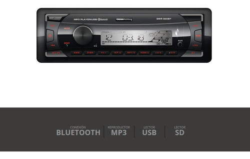 autoestereo bluethoot crown mustang dmr-6000bt mp3 usb sd pc
