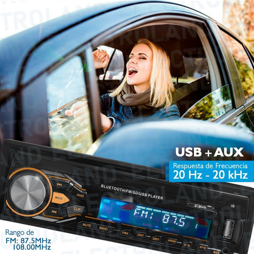 autoestereo bluetooth pantalla  mp3 usb desmontable fm