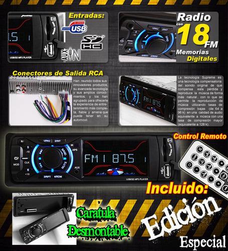 autoestereo! digital mp3 usb sd radio caratula desmontable y