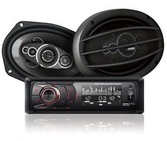 autoestereo + juego parlantes crown mustang cyber monday