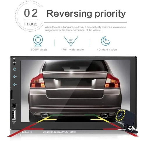 autoestereo mirrorlink pantalla 7 touch 7023b mp5 1080p hd