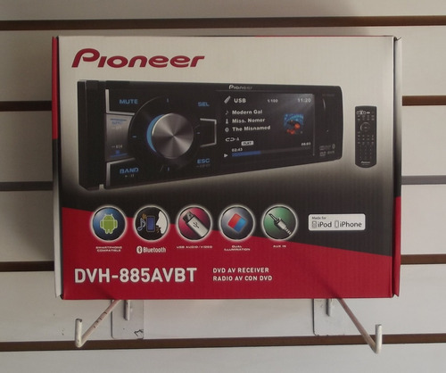 autoesteréo pantalla 3.5 pioneer dvh-885avbt bluetooth ipod