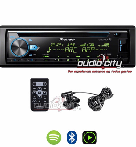 autoestéreo pioneer deh-x7850bt cd iphone android bluetooth