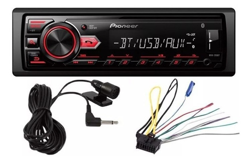 autoestéreo pioneer mvh-295bt bluetooth mp3 usb 50wx4 mosfet