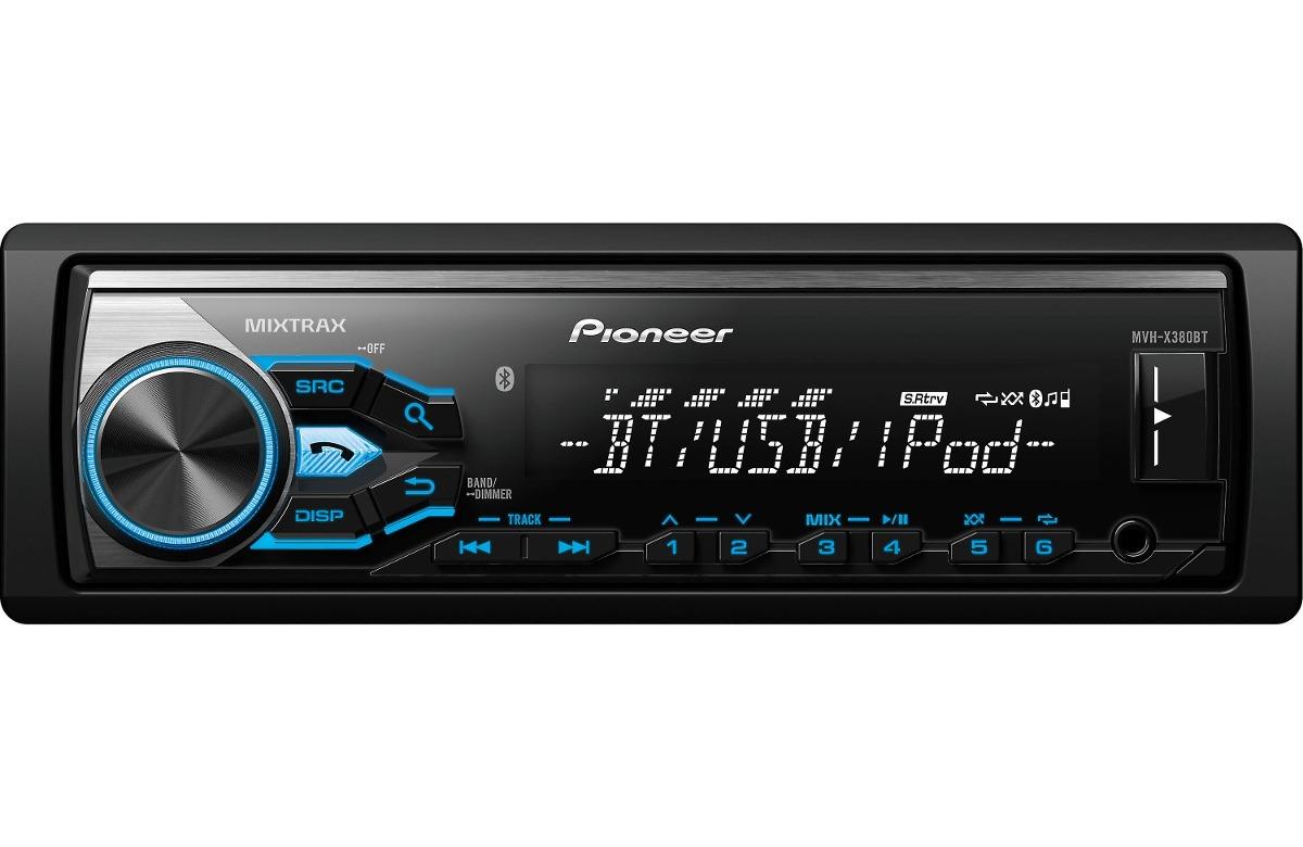 Autoestereo Pioneer Mvh X380bt Mvh X38bt Mixtrax Bluetooth