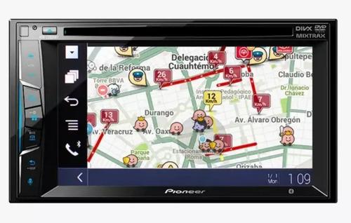 autoestereo pioneer  pantalla 2 din bluetooth waze spotify